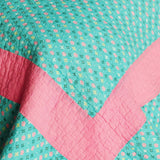 Geek In The Pink Cotton 3PC Vermicelli-Quilted Striped Printed Quilt Set (Full/Queen Size) | My Bed Covers