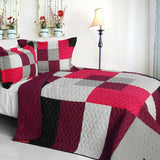 Girls Day Dream 3PC Vermicelli-Quilted Patchwork Quilt Set (Full/Queen Size) - My Bed Covers - 1