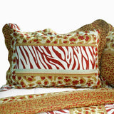 Golden Time Cotton 3PC Vermicelli-Quilted Printed Quilt Set (Full/Queen Size) - My Bed Covers - 2