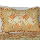Harvest Season Cotton 3PC Vermicelli-Quilted Printed Quilt Set (Full/Queen Size) | My Bed Covers