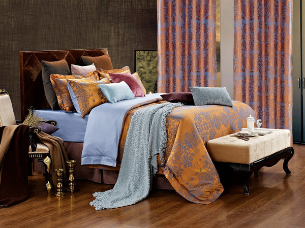 Hathor Jacquard Damask Luxury 6PC Duvet Cover Set (Full/Queen Size) | My Bed Covers