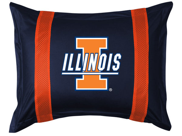 Illinois Fighting Illini Pillow Sham - My Bed Covers