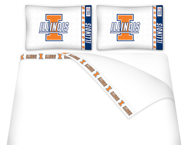Illinois Fighting Illini Sheet Set - My Bed Covers - 1