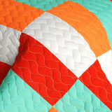 Kaleidoscope 3PC Vermicelli - Quilted Patchwork  Quilt Set (Full/Queen Size) - My Bed Covers - 4