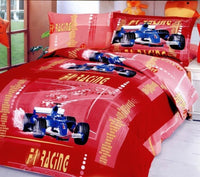 Car Racing Red 4PC Duvet Cover Set (Twin Size) | My Bed Covers