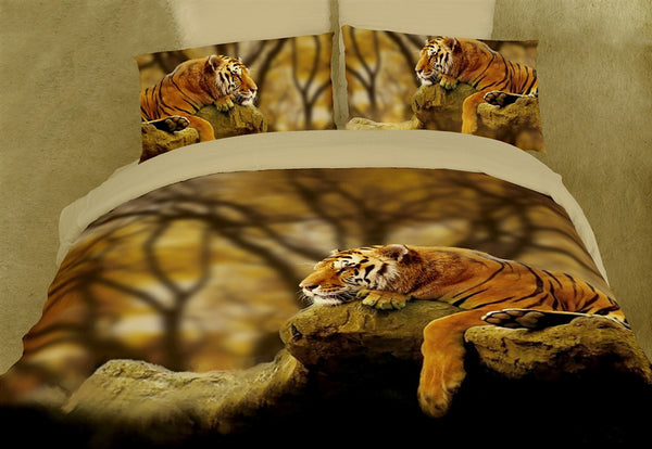 Lonely Tiger 6PC Duvet Cover Set (Full/Queen Size) | My Bed Covers