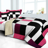 Love For A Child 3PC Vermicelli - Quilted Patchwork Quilt Set (Full/Queen Size) - My Bed Covers - 1
