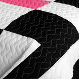 Love For A Child 3PC Vermicelli - Quilted Patchwork Quilt Set (Full/Queen Size) - My Bed Covers - 4