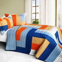 Love Parade 3PC Vermicelli - Quilted Patchwork Quilt Set (Full/Queen Size) - My Bed Covers - 1