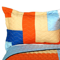 Love Parade 3PC Vermicelli - Quilted Patchwork Quilt Set (Full/Queen Size) - My Bed Covers - 2