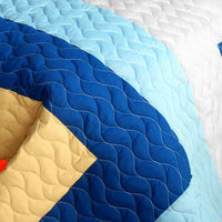 Love Parade 3PC Vermicelli - Quilted Patchwork Quilt Set (Full/Queen Size) - My Bed Covers - 4