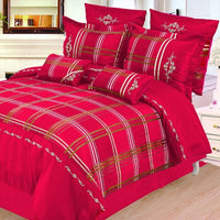 Madison 7 Piece Duvet Cover Set Burgundy (Queen Size) | My Bed Covers