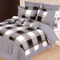 Madison 7 Piece Duvet Cover Set Grey (Queen Size) | My Bed Covers