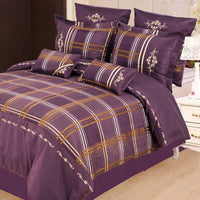 Madison 7 Piece Duvet Cover Set Purple (Queen Size) | My Bed Covers