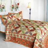 Magic Of Love 3PC Cotton Vermicelli-Quilted Printed Quilt Set (Full/Queen Size) | My Bed Covers