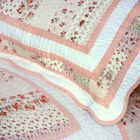 Mangena Cotton 3PC Floral Vermicelli-Quilted Printed Quilt Set (Full/Queen Size) | My Bed Covers