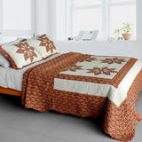Maple Leaf Cotton 3PC Vermicelli-Quilted Printed Quilt Set (Full/Queen Size) | My Bed Covers