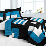 Marsh Hall Brand New Vermicelli-Quilted Patchwork Quilt Set (Full/Queen Size) | My Bed Covers