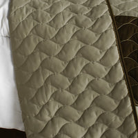 Milky Quartz - B Vermicelli-Quilted Patchwork Geometric Quilt Set (Full/Queen Size) - My Bed Covers - 3