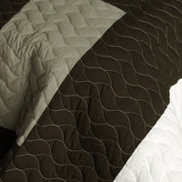 Milky Quartz - B Vermicelli-Quilted Patchwork Geometric Quilt Set (Full/Queen Size) - My Bed Covers - 4