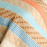 Million Miles Cotton 3PC Vermicelli-Quilted Striped Printed Quilt Set (Full/Queen Size) - My Bed Covers - 4