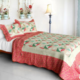 Mio Dolce Sogno Cotton 3PC Vermicelli-Quilted Printed Quilt Set (Full/Queen Size) - My Bed Covers - 1