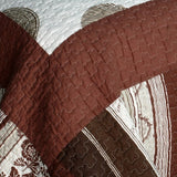 Modern Circles Cotton 3PC Vermicelli-Quilted Printed Quilt Set (Full/Queen Size) | My Bed Covers