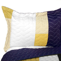 Morning Glory 3PC Vermicelli - Quilted Patchwork Quilt Set (Full/Queen Size) - My Bed Covers - 2