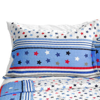 Multicolor Star 3PC Cotton Vermicelli-Quilted Printed Quilt Set (Full/Queen Size) - My Bed Covers - 2