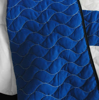 Navy Vermicelli-Quilted Patchwork Geometric Quilt Set (Full/Queen Size) - My Bed Covers - 3