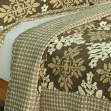 Noble Snowflake Cotton 3PC Vermicelli-Quilted Printed Quilt Set (Full/Queen Size) | My Bed Covers