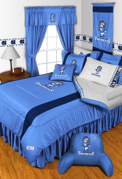 North Carolina Tar Heels NCAA Sideline Comforter | My Bed Covers