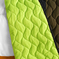 Olive 3PC Vermicelli-Quilted Patchwork Quilt Set (Full/Queen Size) - My Bed Covers - 3