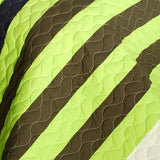 Olive 3PC Vermicelli-Quilted Patchwork Quilt Set (Full/Queen Size) - My Bed Covers - 4