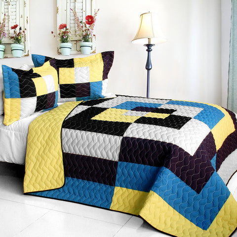 One Fine Wire 3PC Vermicelli - Quilted Patchwork Quilt Set (Full/Queen Size) - My Bed Covers - 1