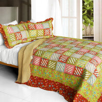 Paradise Ranch 3PC Cotton Vermicelli-Quilted Printed Quilt Set (Full/Queen Size) | My Bed Covers