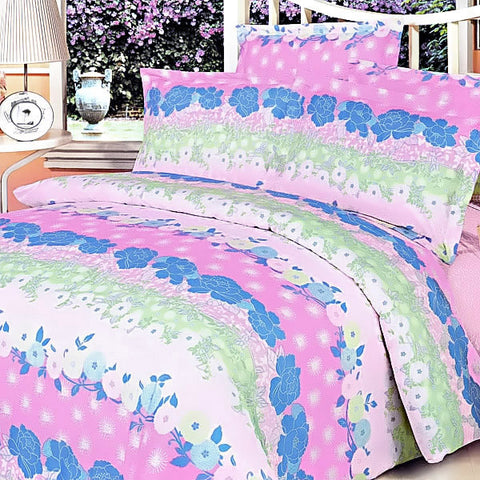 Pink Kaleidoscope 100% Cotton 5PC Comforter Set (King Size) - My Bed Covers