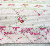 Pink Rosary 100% Cotton 3PC Classic Floral Vermicelli-Quilted Quilt Set (King Size) - My Bed Covers - 3