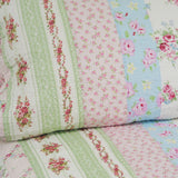 Pink Rosary 100% Cotton 2PC Classic Floral Vermicelli-Quilted Quilt Set (Twin Size) - My Bed Covers - 4