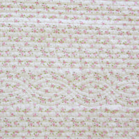 Pink Rosary 100% Cotton 2PC Classic Floral Vermicelli-Quilted Quilt Set (Twin Size) - My Bed Covers - 5