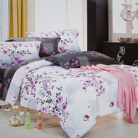 Plum In Snow Luxury 5PC Comforter Set Combo 300GSM (King Size) - My Bed Covers