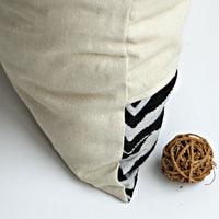 Pure Life Linen Stylish Patch Work Pillow Cushion | My Bed Covers