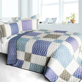 Pure Willing 3PC Vermicelli - Quilted Patchwork Quilt Set (Full/Queen Size) | My Bed Covers