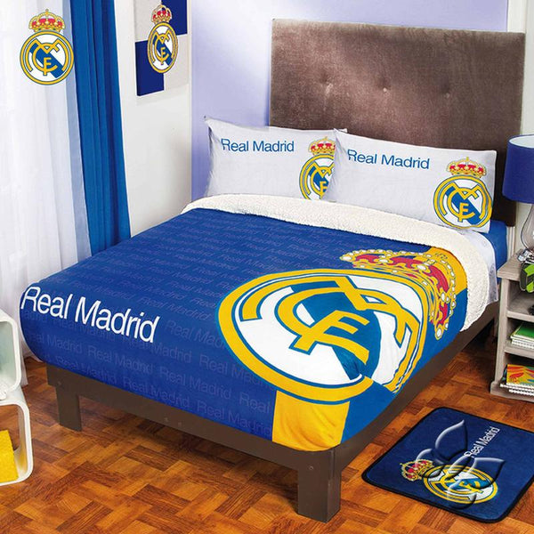 Real Madrid Blanket With Sherpa | My Bed Covers