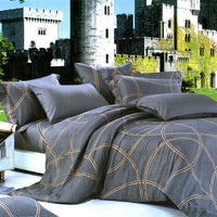 Reminiscent Mood 100% Cotton 3PC Comforter Cover/Duvet Cover Combo (Twin Size) | My Bed Covers