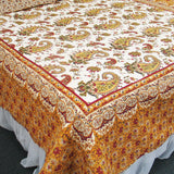 Renaissance 100% Cotton 3PC Classic Floral Vermicelli-Quilted Quilt Set (Full/Queen Size) | My Bed Covers