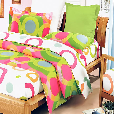 Rhythm Of Colors 100% Cotton 7PC MEGA Comforter Cover/Duvet Cover Combo (Queen Size) - My Bed Covers