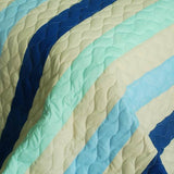 Rising To The Top 3PC Vermicelli-Quilted Patchwork Quilt Set (Full/Queen Size) - My Bed Covers - 4