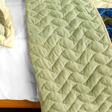 Road To Dream 3PC Vermicelli-Quilted Patchwork Quilt Set (Full/Queen Size) - My Bed Covers - 3