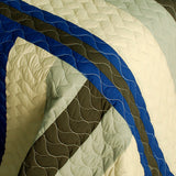 Road To Dream 3PC Vermicelli-Quilted Patchwork Quilt Set (Full/Queen Size) - My Bed Covers - 4